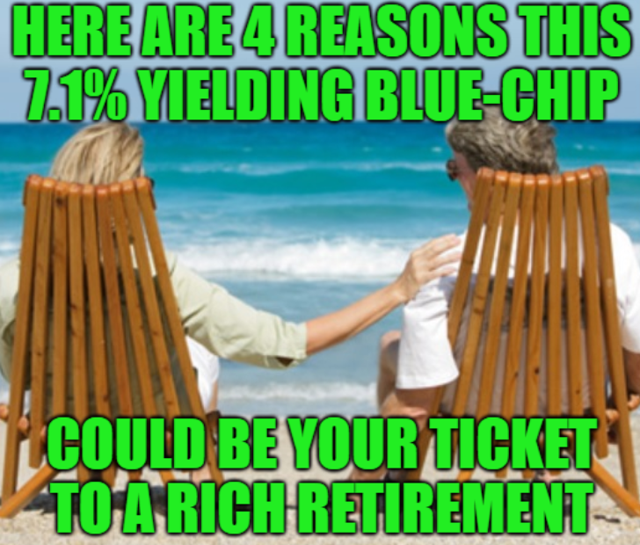 This 7.1% Yielding Blue-Chip Could Be Your Ticket To A Rich Retirement