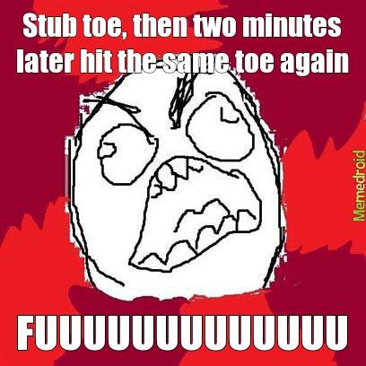 Image result for stubbed toe meme