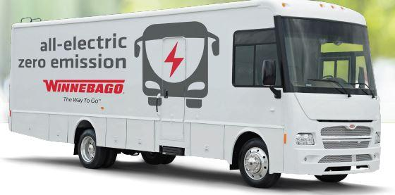 Winnebago custom electric RV on Motiv power electric chassis