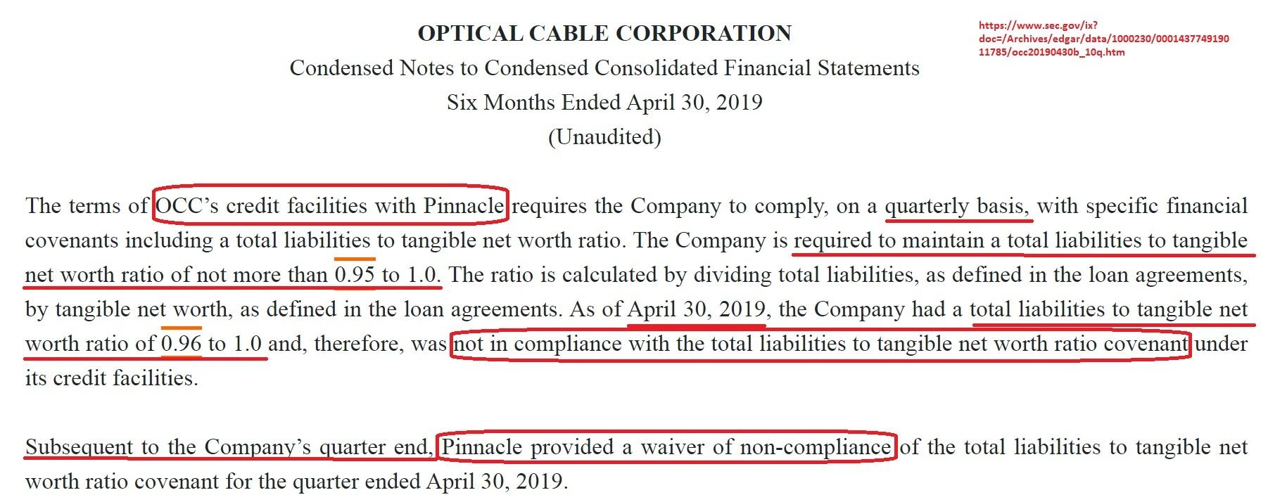Optical Cable Corp.\'s Bank May Gain Leverage After OCC ...