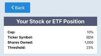 Optimal hedge on EEM via Portfolio Armor.