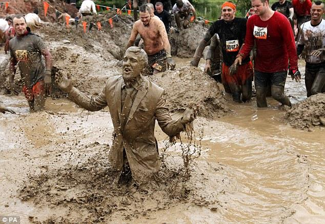 Image result for man in suit stuck in the mud
