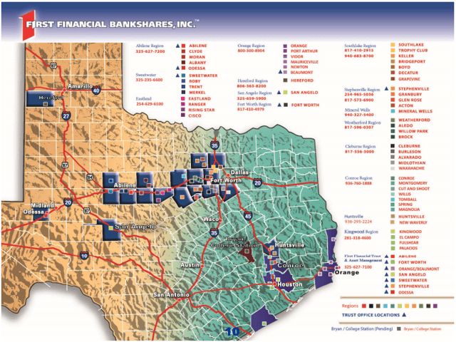 First Financial Bankshares: A Steadily Growing But Richly Valued Texas Bank
