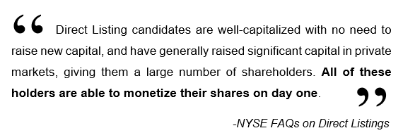 NYSE Direct Listing Quote 1