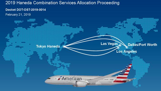 American Airlines Haneda application