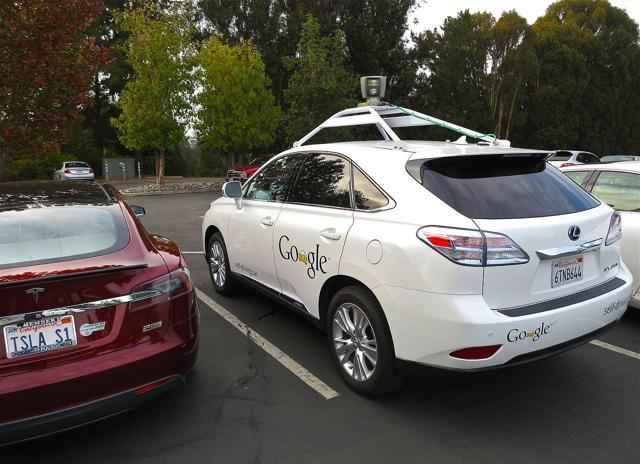 Tesla and Waymo, side by side
