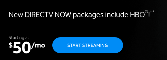 DirecTV Now website