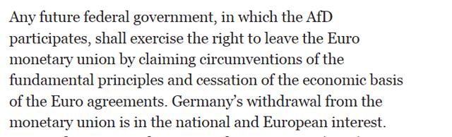 AfD Manifesto - Euro