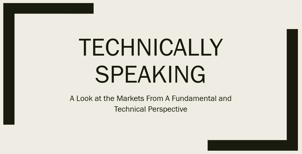 Technically Speaking For The Week Of March 18-22