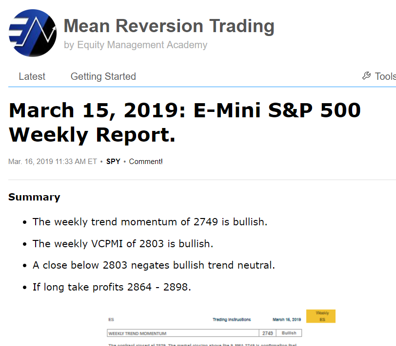 E Mini Sp 500 Have We Made A Top Seeking Alpha
