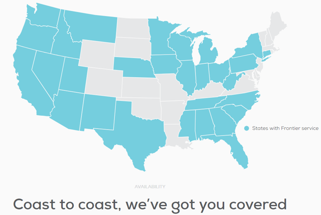 Frontier Communications State Coverage