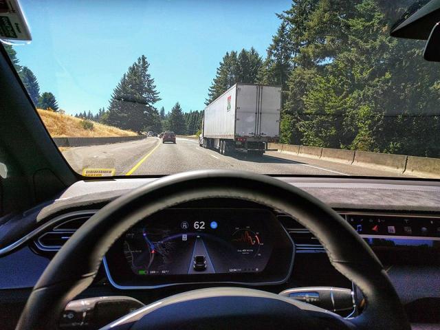 Tesla Model X on Autopilot
