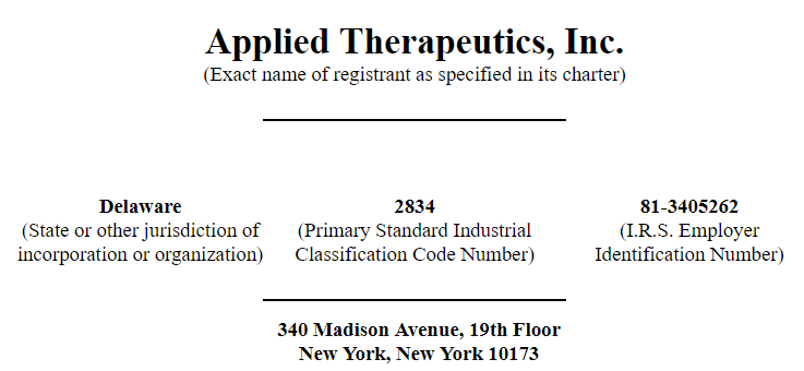 Applied Therapeutics IPO: Phase 2-3 Clinical Trial Should Commence In 2019