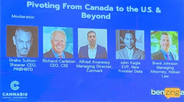 pivoting from Canada to the US and Beyond Ricahrd Carleton ceo of cse