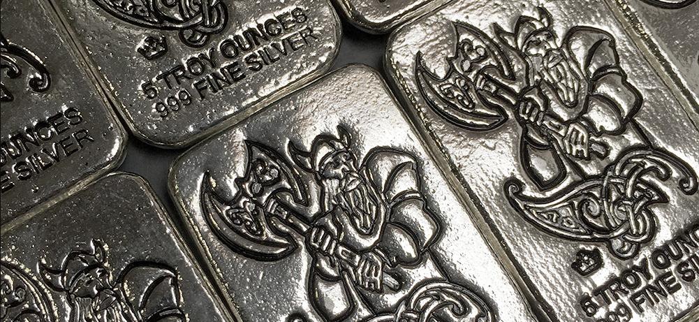 f6eb342c35c4 5 ounce Viking warrior silver bars (photo via BGASC).