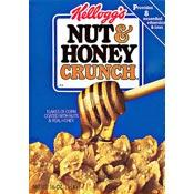 Kellogg Nut & Honey Crunch cereal box from 1987
