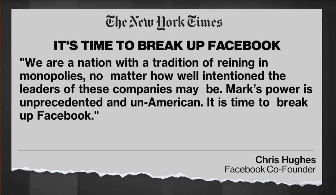 Co-founder calls for 'break up' of Facebook