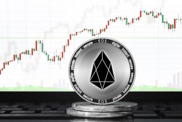 EOS coin with chart