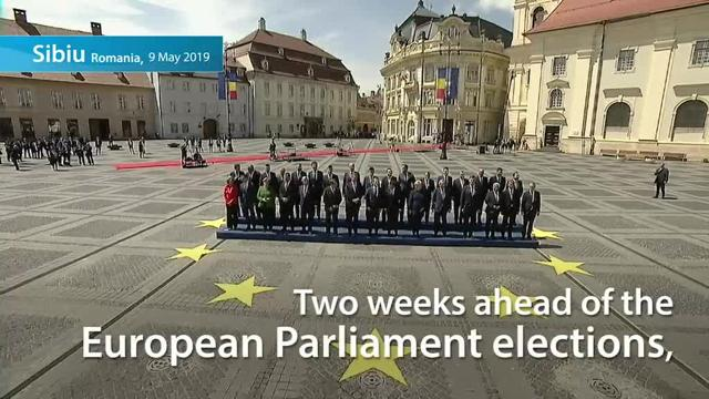 Image result for photo of EU leaders in romania