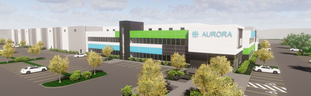 Aurora is building out its Aurora Polaris facility for products like edibles and vape pens.