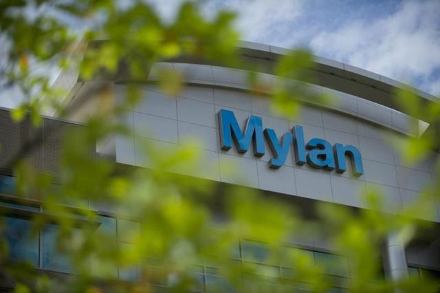 Mylan corporate logo. Source: Bloomberg