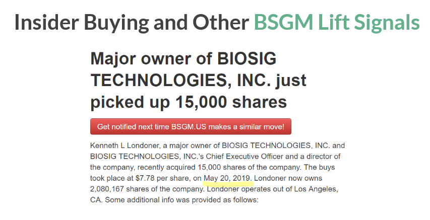 BioSig: A Useless Product, A Paid Stock Promotion, And