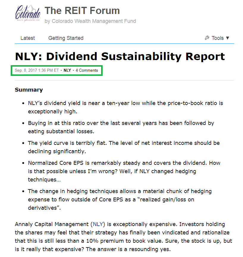 Dividend Chopped: How The REIT Forum Predicted Annaly's Cut