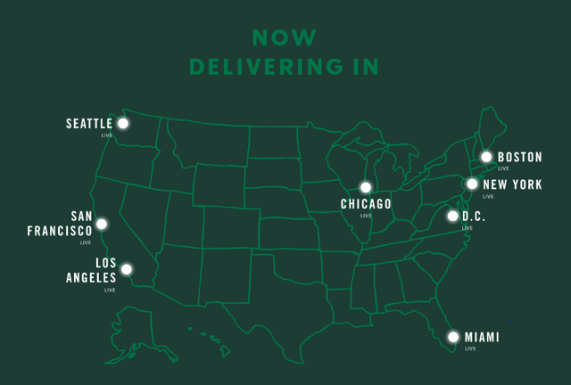 SBUX delivery regions