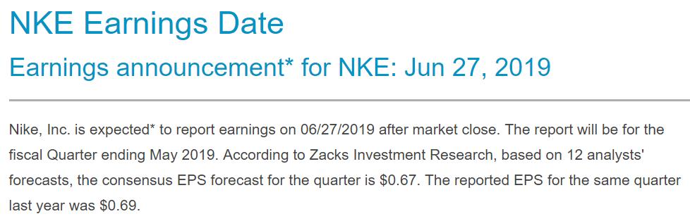 nike trading