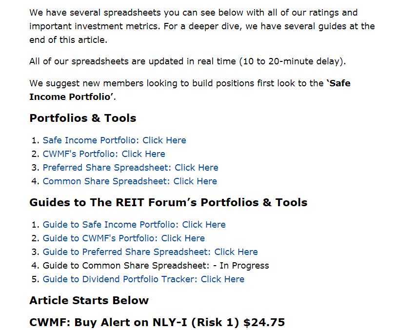 The REIT Forum's Latest Buy Alert - Colorado Wealth