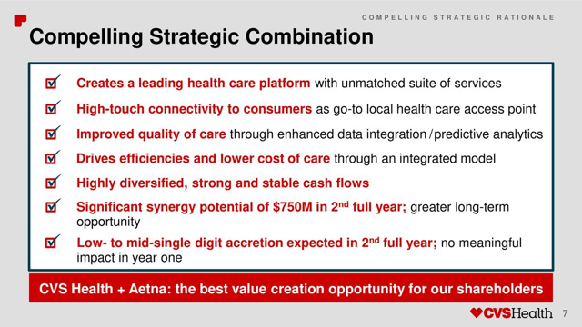 CVS Aetna takeover announcement