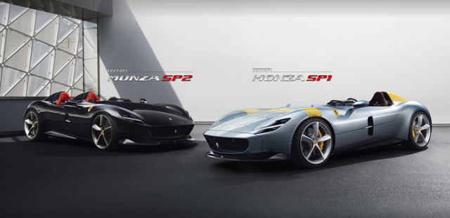 Ferrari Monza SP2 (left) and SP1 (right)