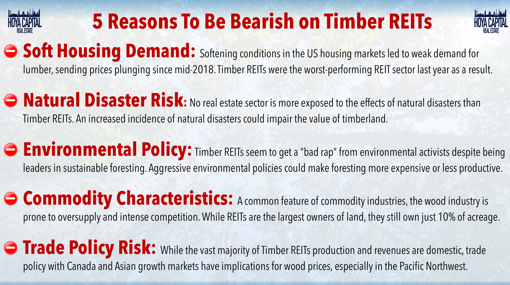 Timber REITs: Can't Ignore This Growth Sector   Seeking Alpha
