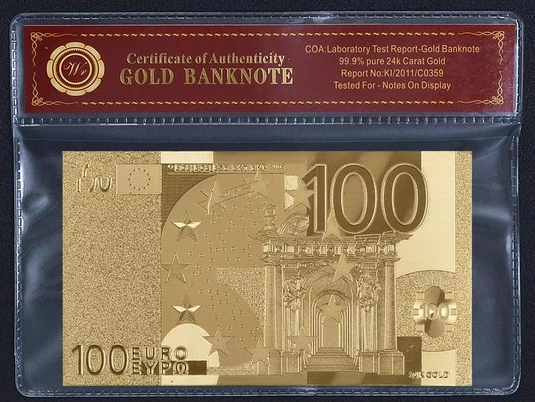 Euro Gold Bank Note