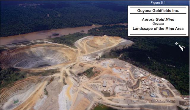 Guyana Goldfields Aurora Mine picture