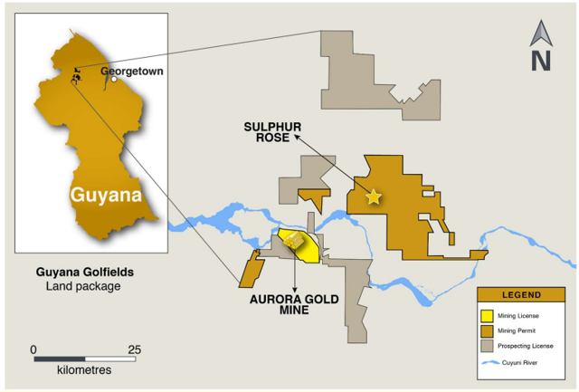 Guyana Goldfields exploration