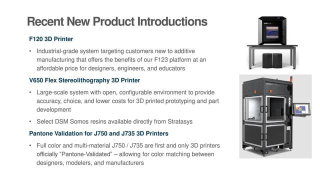 Stratasys, 3D Prinintg, New products, Flex stereolithography, Fusion, Boeing, Ford, H2000