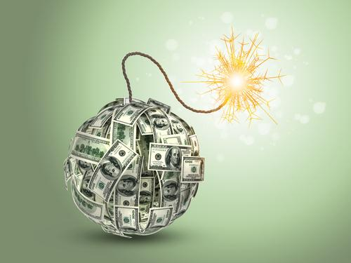 Image result for blowing up money