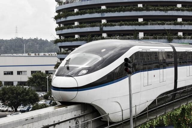 Image result for BYD monorail pic smart city