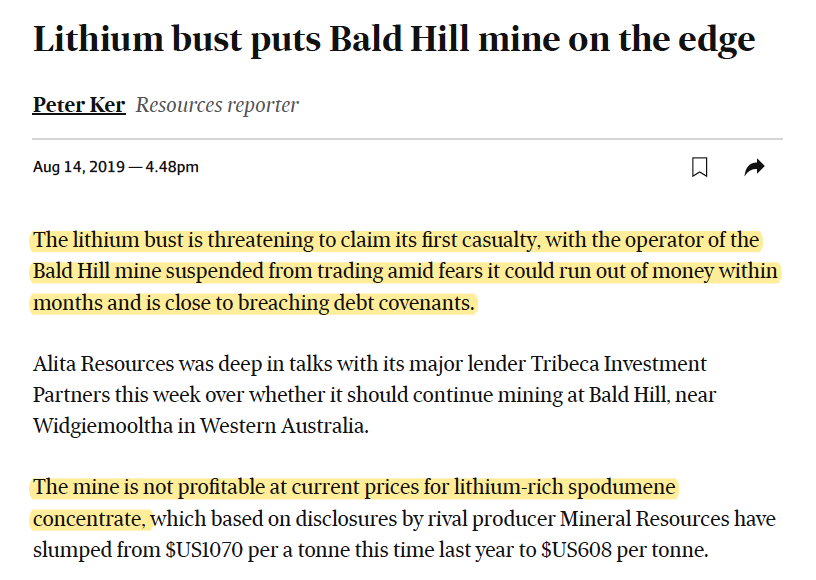 Lithium: Spodumene Producers Are In Trouble
