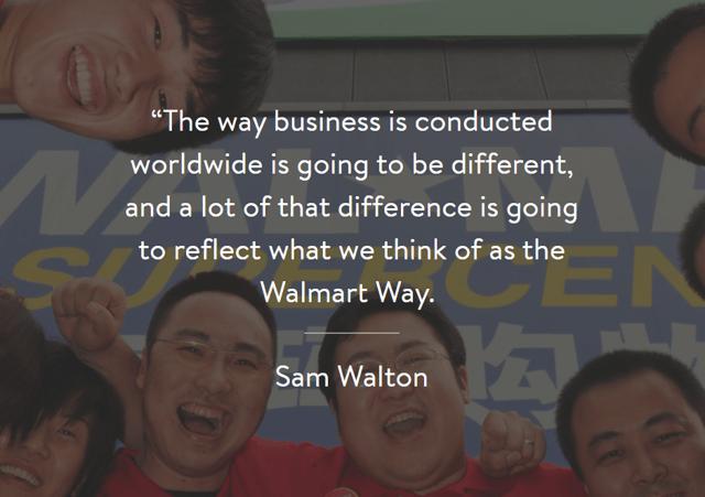 the Walmart Way statement Sam Walton
