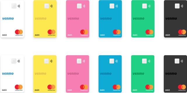 Venmo card Mastercard cool colors Visa app stock portfolio investing