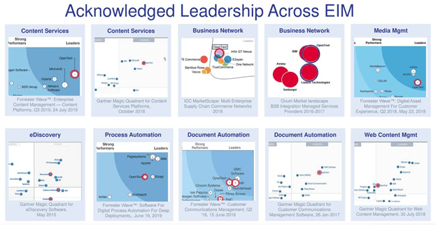 Open Text areas of leadership