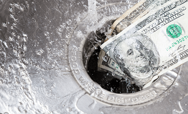 dollar going down the drain