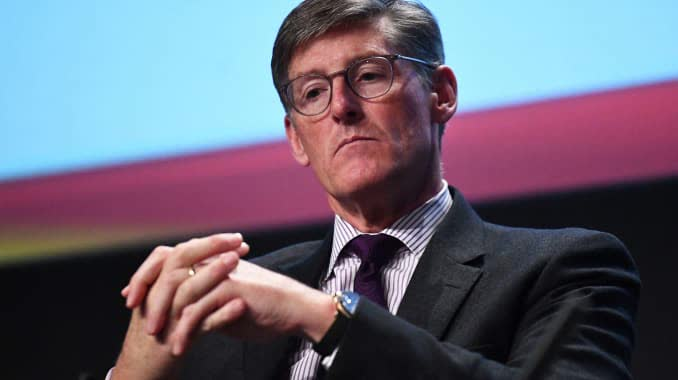 Chief Executive Officer of Citigroup Michael Corbat speaks at a European Financial Forum event in Dublin, Ireland February 13, 2019.