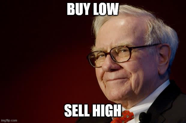 Buffett says buy low and sell high