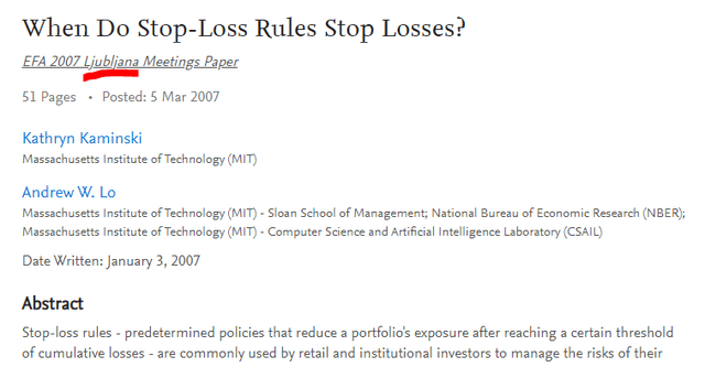stop loss stock selling