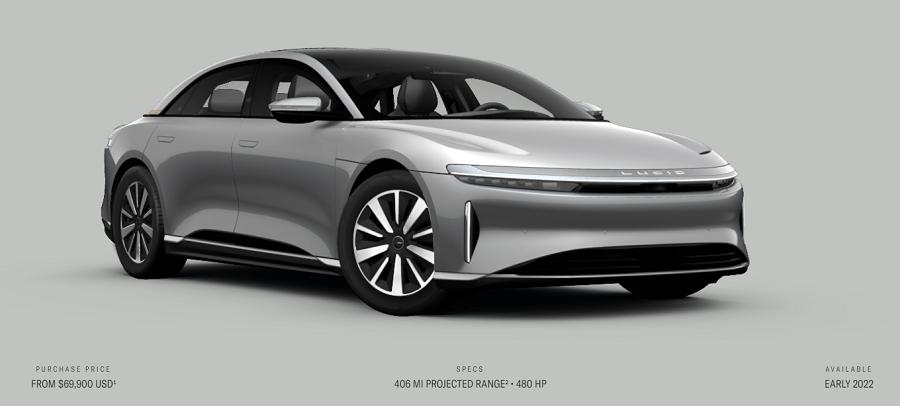 Lucid Motors unveils cheaper version of upcoming EV sedan ...