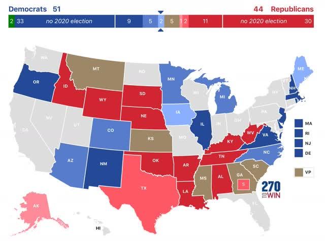 Biden amplia liderança nacional; Provavelmente, disputas para o Senado seguirão o resultado presidencial em cada estado 5