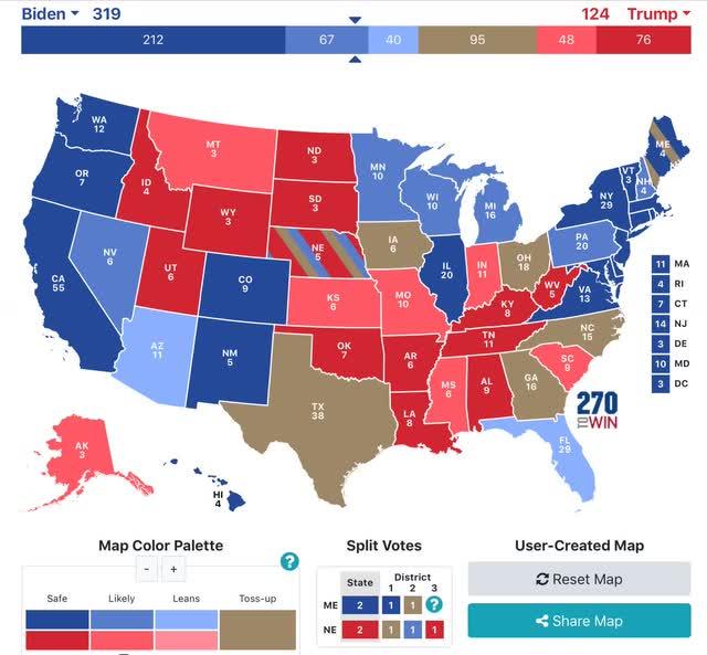 Biden amplia liderança nacional; Provavelmente, disputas para o Senado seguirão o resultado presidencial em cada estado 4